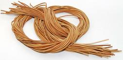 """1 PAIR - 72"""" Rawhide Leather Shoelaces Moccasin Strings Boat"""