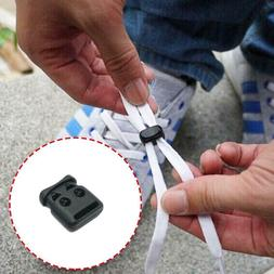 10Pcs Shoe Lace Shoelace Buckle Rope Clamp Cord Lock Stopper