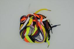 """12 Pairs 45"""" Flat Coloured Athletic Shoe Laces Strings for S"""