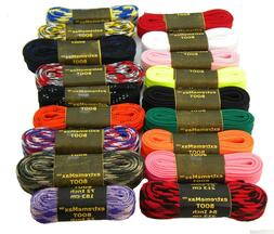 2 Pair- Retro Hockey skate Laces extremeMAX flat 10mm wide t