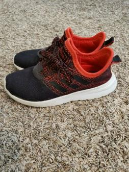 Boys adidas shoes size 3.5 red black laces pull on