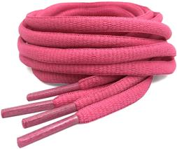"""DELELE 2Pair Oval Shoes laces 42 Colors Half Round 1/4""""Athle"""