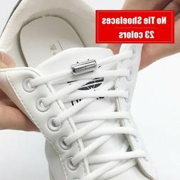 Elastic No Tie Shoelaces Semicircle Shoe Laces For Kids and