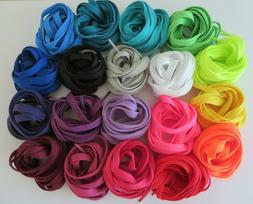 """Flat Athletic Shoes Sneakers Shoelaces  47"""", 50"""" Multiple Co"""