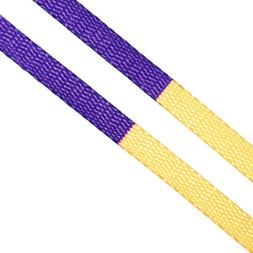 LitLaces - Flat Half Printed Two Tone Replacement Shoelaces