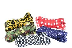 FLAT PATTERN PRINT SHOELACES CUTE FASHION LACES FOR ALL SHOE