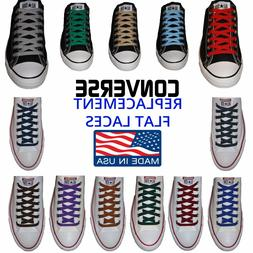 Converse Compatible Flat Athletic Laces - Made in USA - Buy