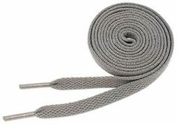 """Flat Shoelaces 5/16"""" Wide Solid Colors Several, Dark Gray, S"""