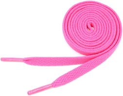 """Flat Shoelaces 5/16"""" Wide Solid Colors - 27""""-72"""" Lengths Ath"""