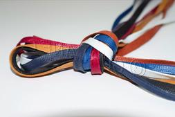 FLAT WAXED Sport Cotton Shoelaces Sneakers Casual Colored Sh