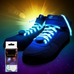 LED Neon Lights Pair of Shoelaces EDM Light Up Laces Gift Ad