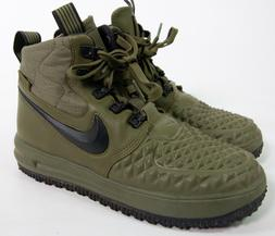 Nike Lunar Force 1 Duckboot Winter Boots Shoes Olive Green S