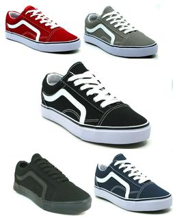 Men's Classic Lace Up Canvas Shoes Athletic Skate Sneakers C