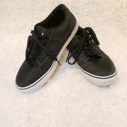 VANS Men's Size 7.5 Off the Wall Lace-Up Shoes Black w/ blac