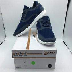 Copper Fit Mens Gavin Tennis Shoes Navy Blue Lace Up Low Top