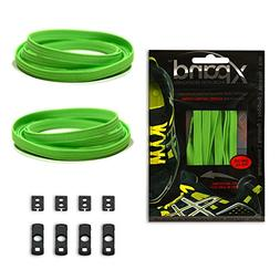 Xpand No Tie Shoelaces System with Elastic Laces - Neon Gree