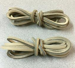 """ONE PAIR  CAMEL - 72"""" Rawhide Leather Shoelaces Strings Boat"""