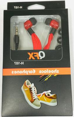 QFX Shoelace Earphones Cell Phone and Other Audio. Earbuds