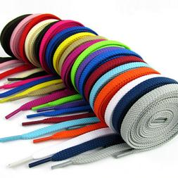 Shoelaces Colorful Flat Round Bootlace Sneaker Shoe Laces Sh