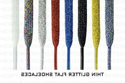 Thin Flat Colorful Glitter SHOELACES Laces For Any Shoes BUY