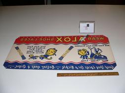 Vintage Very Rare Alox Shoe Laces Advertising Display Large