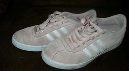women s pink courtset suede leather sneaker