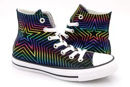 Converse Womens CTAS Hi Rainbow All Of The Stars Lace Up Sne